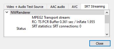 SRT filter settings