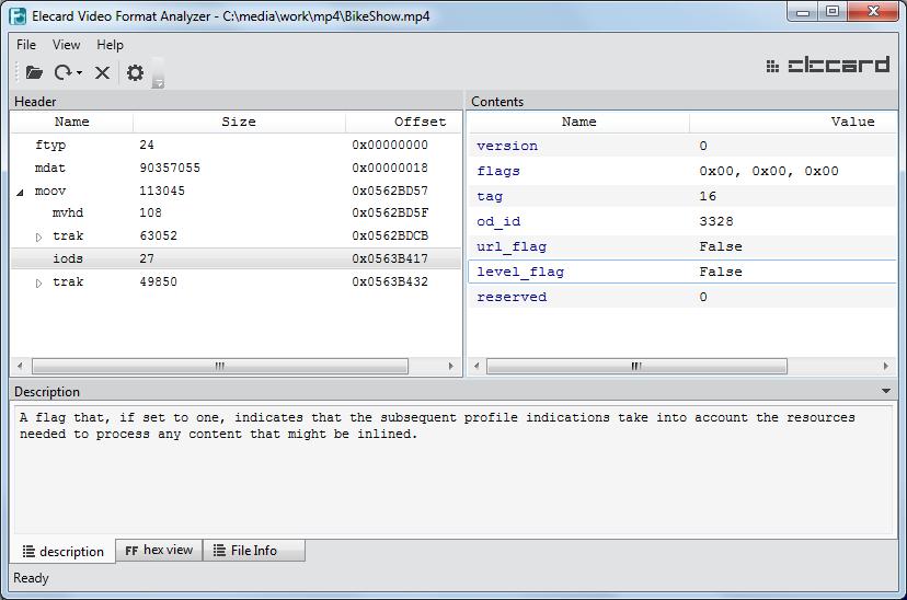 Video Format Analyzer | Elecard: Video Compression Guru